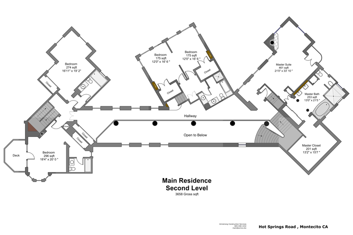 985 Hot Springs Road Floor Plans