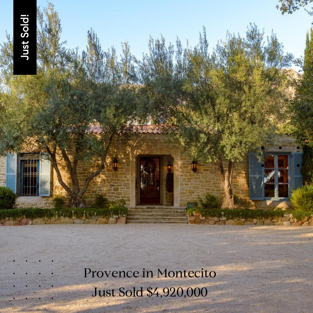 1970 East Valley Road Montecito Just Sold