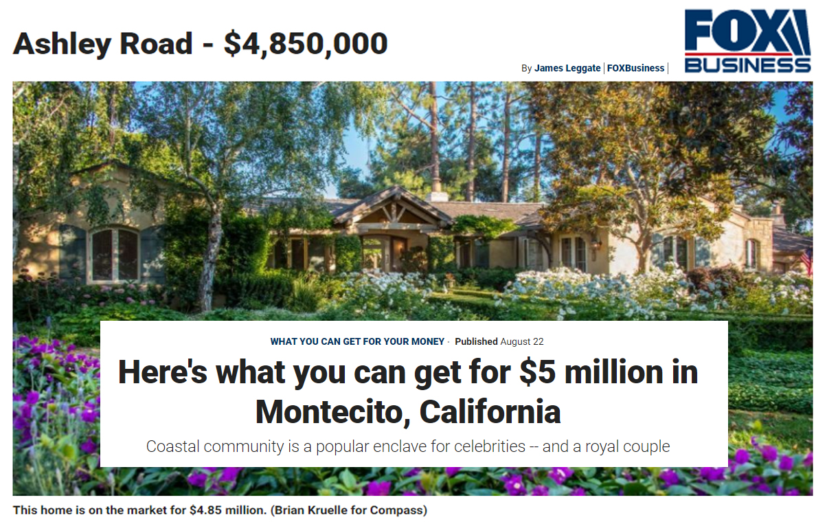 Perkins Group   860 Ashley Rd   Montecito, CA   $4,850,000   Compass